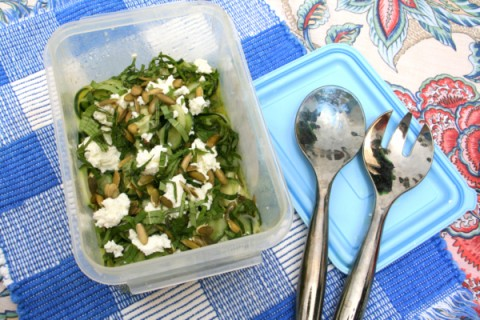 Cucumber Ribbon Salad from Fresh Food in a Flash