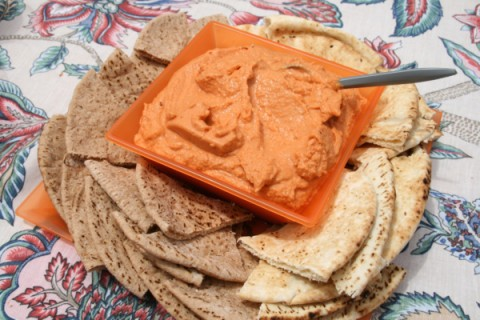 Red Pepper Hummus from Bibberche
