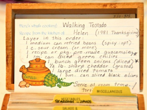Walking Tostada recipe card