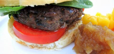Best Onion Mushroom Burger on ShockinglyDelicious.com