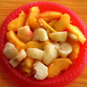 frozen peaches for Yonanas