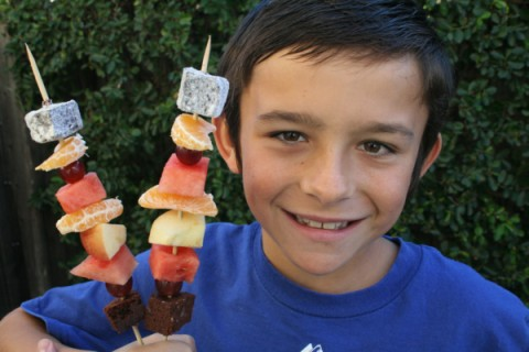 Fruit Kebabs and Nick