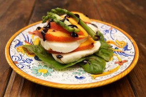 Peach Caprese Salad from Cookingontheweekends