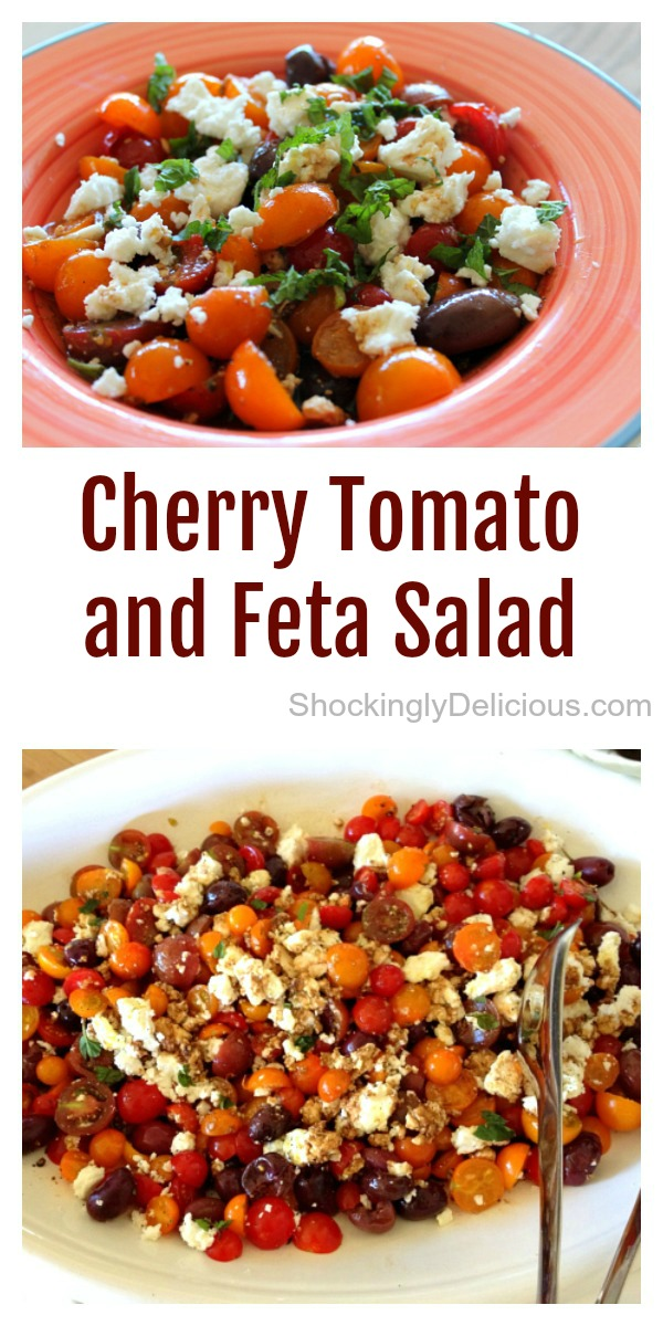 Cherry Tomato and Feta Salad on ShockinglyDelicious.com