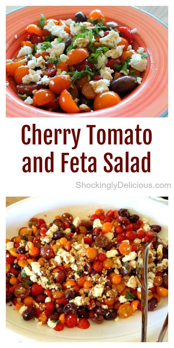 Cherry Tomato and Feta Salad on ShockinglyDelicious.com