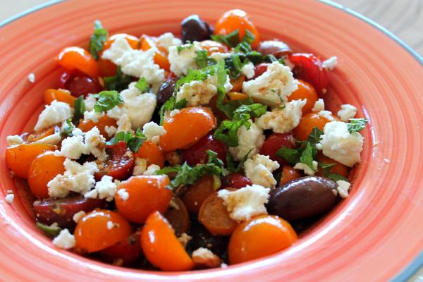 Cherry Tomato and Israeli Feta Salad