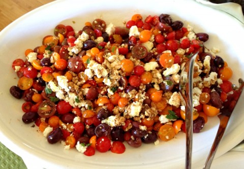 Cherry Tomato and Israeli Feta Salad