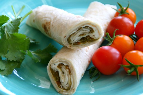 POOR MAN'S BURRITO: A Hatch chile wrapped up with garlicky cream cheese in a flour tortilla becomes a Poor Man's Burrito. Perfect for tailgating, any party, lunch or a snack!
