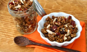 Skillet Granola on tray