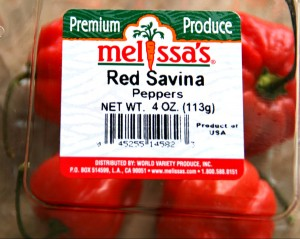 Red Savina Peppers from Melissas