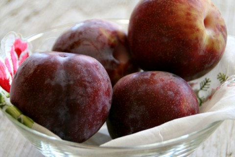 Honey Punch Plums for Indian Plum Chutney