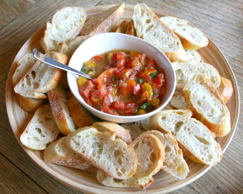 Back Yard Bruschetta from Rustic Garden Bistro