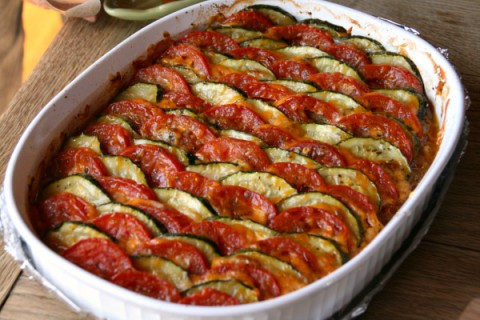 Zucchini Tomato Tian from Cook and Be Merry