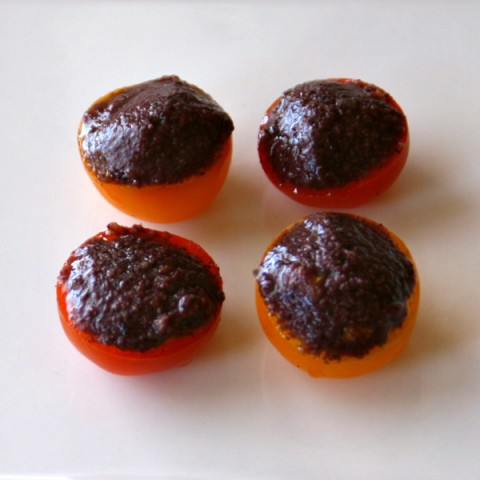 Dorothy's Tapenade Tomatoes