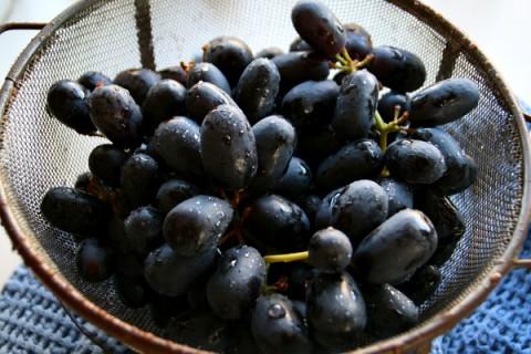 Black Muscato grapes