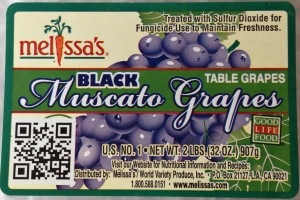 Black Muscato Grapes from Melissa's