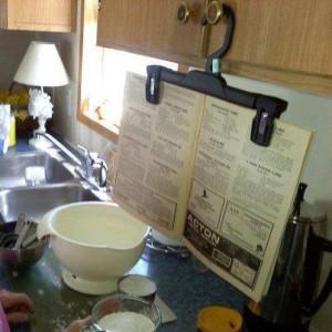 Skirt holder recipe holder