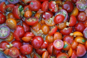 Cherry Tomato and Preserved Lemon Salad