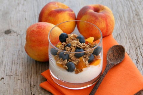 Breakfast Nectarine and Blueberry Parfait