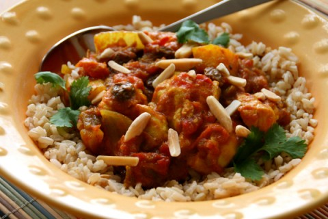 Slow Cooker Country Captain Chicken with Hatch Chiles