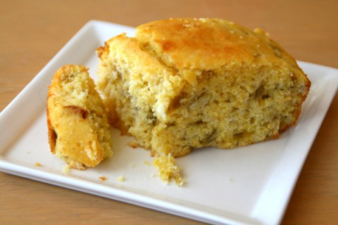 Speed Scratch Hatch Chile Cornbread on Shockingly Delicious