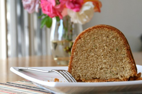 Zucchini Cookie Butter Bundt Cake on Shockingly Delicious