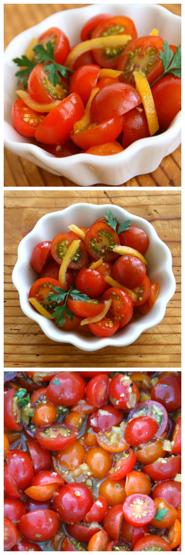 Vegan Cherry Tomato and Preserved Lemon Salad