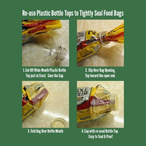 inventive bottle cap for bags