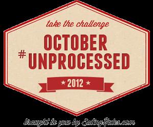 October Unprocessed Badge