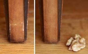 walnut oil to remove furniture scrapes