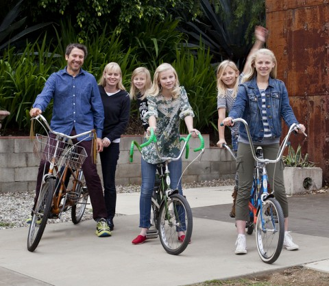 Bolander Family of Malibu on bikes