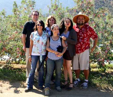 Food writers on the Cuyama Orchards tour
