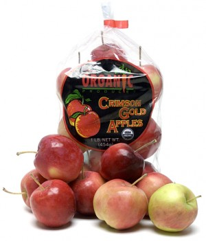 Melissa's Organic Crimson Gold Apples in the bag
