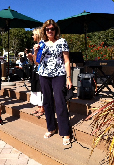 Dorothy with blue ribbon -- Malibu Pie Contest 2012