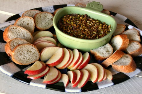 Chicken and Apple Pate with Chopped Pistachios