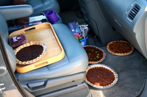 Pies in the car -- Malibu Pie Contest 2012