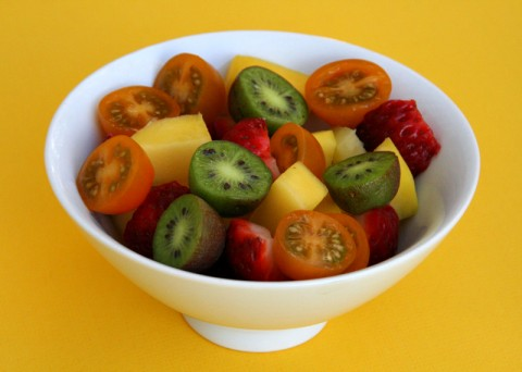 Fruit Salad with Tomatoes!