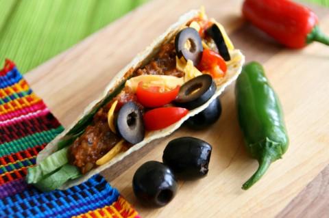 Lentil Tacos with Ripe Olives