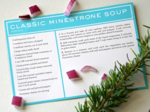 Martha Stewart Minestrone Soup recipe card