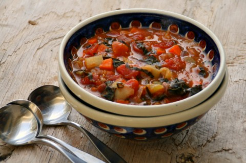 Loaded Vegetable Minestrone Soup