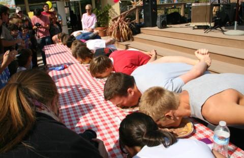 Pie eating contest -- Malibu Pie Contest 2012