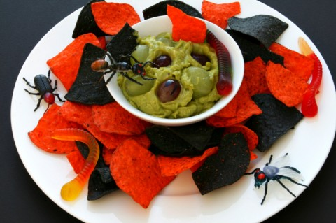 Gory Green Monster Eyeball Dip for Halloween on ShockinglyDelicious.com
