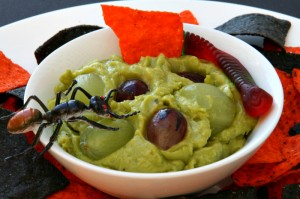 Gory Green Monster Eyeball Dip on ShockinglyDelicious.com. Recipe here: http://www.shockinglydelicious.com/?p=9927
