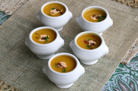 Pumpkin Soup with Chipotle Cream