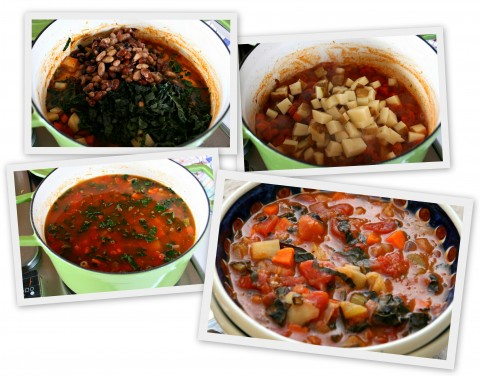Making Minestrone Soup collage