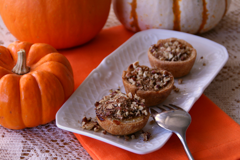 pumpkin mini mini pumpkin maple tarts with toasted pecan streusel