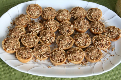 Mini Pumpkin-Maple Tarts with Toasted Pecan Streusel