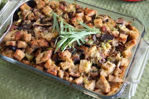 Shiitake Mushroom, Leek, Bacon and Tarragon Stuffing