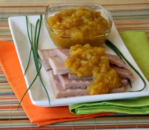 Quick Curried Pineapple Sauce for Ham. Recipe here http://www.shockinglydelicious.com/?p=10363