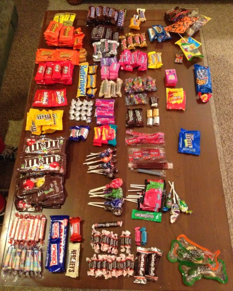 categorized candy